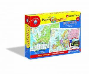 mapa puzzle interactivo de Europa de Clementoni